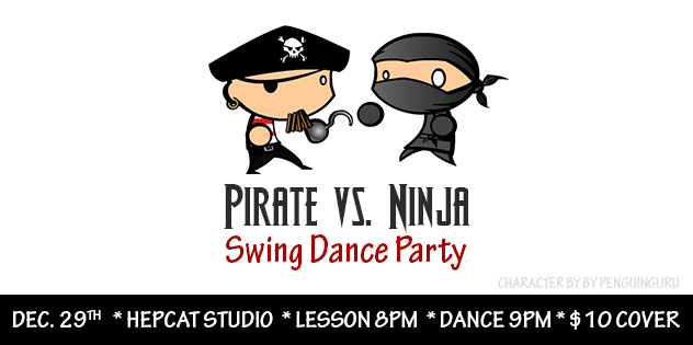 Pirate vs Ninja Swing Dance Party